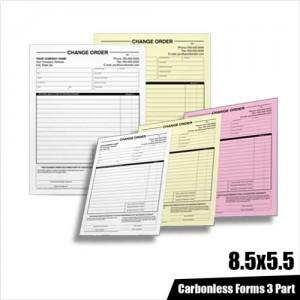 Carbonless Forms 3 Part 8.5 x 5.5