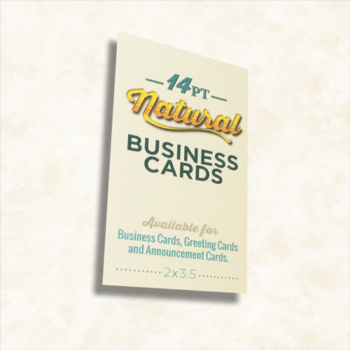 natural uncoated business cards cardsxpress com
