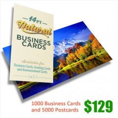 Business cards and Postcards