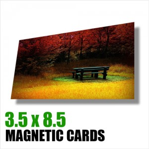 Magnetic Cards 3.5 x 8.5